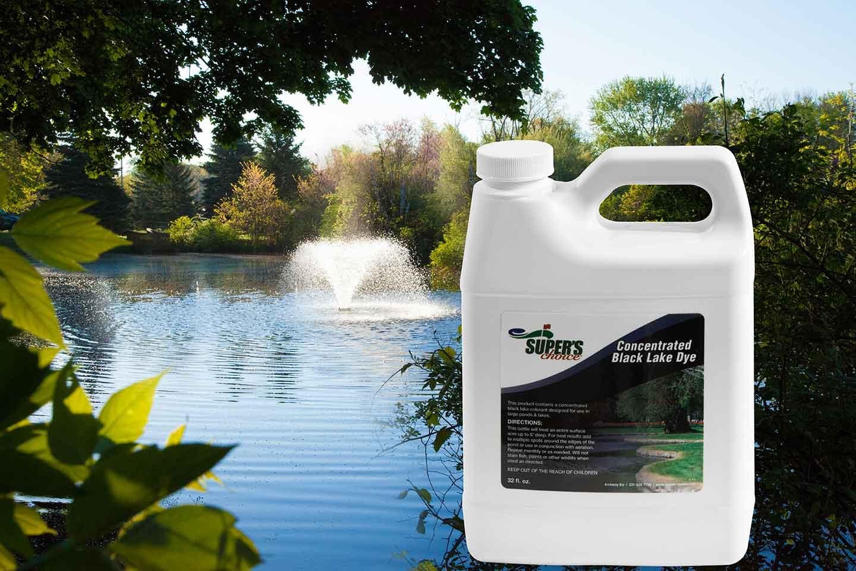 Concentrated blue or black pond dye scott aerator for Blue pond dye